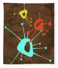 Abstract Splash Theme I Fleece Blanket