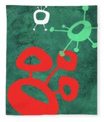 Abstract Splash Theme II Fleece Blanket