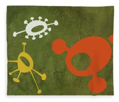 Abstract Splash Theme Vii Fleece Blanket