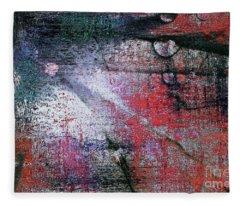 Abstract ..tracks Fleece Blanket