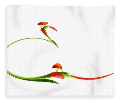 Abstract Tulips Fleece Blanket