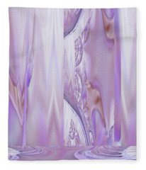 Liquid Lavender Fleece Blanket