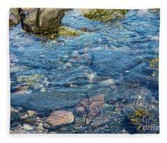 Abstract Water Fleece Blanket