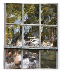Abstract Window Reflections Fleece Blanket