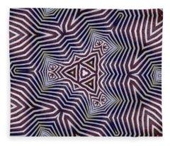 Abstract Zebra Design Fleece Blanket