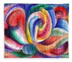 Abstraction Bloom Fleece Blanket