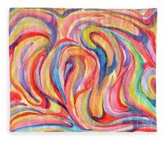 Abstraction In Autumn Colors Fleece Blanket