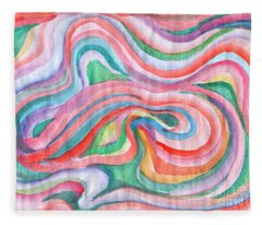 Abstraction In Spring Colors Fleece Blanket