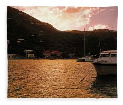 Abstractions Of Coral Bay Fleece Blanket