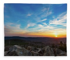 Achtermann Sunset, Harz Fleece Blanket