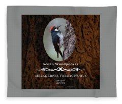 Acorn Woodpecker Granary Tree Fleece Blanket