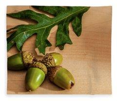 Acorns From The Salem Oak Tree Fleece Blanket