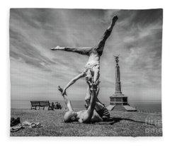 Acroyoga In Aberystwyth Fleece Blanket