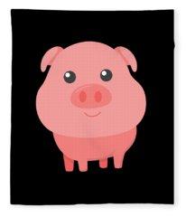 Adorable Pig Cute Pig Lovers Fleece Blanket