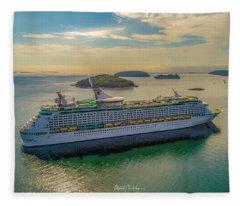Adventure Of The Seas, Bar Harbor  Fleece Blanket