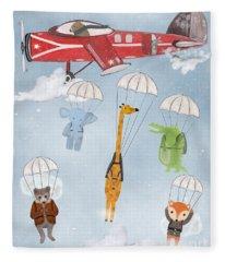 Adventure Skies Fleece Blanket