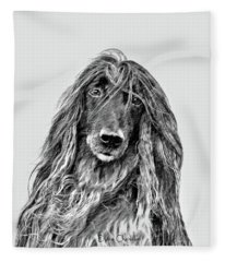Afghan Hound 3 Fleece Blanket