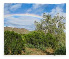 Fleece Blanket featuring the photograph After An Arizona Winter Rain by Judy Kennedy