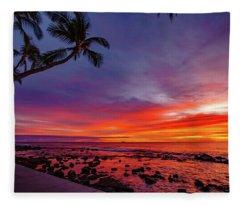 After Sunset Vibrance Fleece Blanket