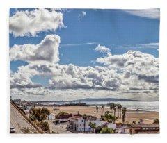 After The Rain - Santa Monica - Panorama Fleece Blanket