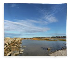 Afternoon At Corporation Beach Fleece Blanket