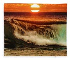 Ahh.. The Sunset Wave Fleece Blanket