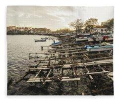 Ahtopol Fishing Town Fleece Blanket