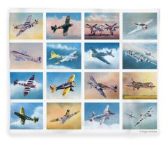 Airplane Poster Fleece Blanket