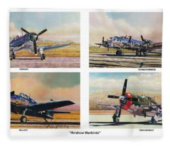Airshow Warbirds Fleece Blanket