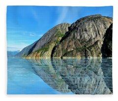 Alaska Rock Reflection Fleece Blanket