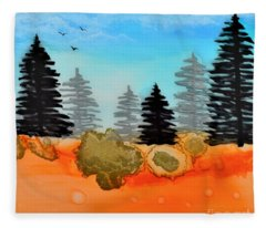 Alcohol Ink - 1 Fleece Blanket