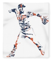 Alex Bregman Houston Astros Pixel Art 10 Fleece Blanket