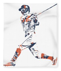 Alex Bregman Houston Astros Pixel Art 11 Fleece Blanket