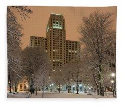Alfred E. Smith Building Fleece Blanket
