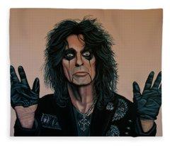 Alice Cooper Painting 2 Fleece Blanket