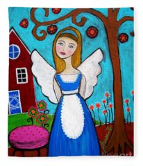 Alice In Wonderland Angel Fleece Blanket
