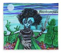 Alien Scissorhands Fleece Blanket