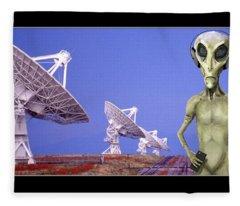 Alien Vacation - Socorro New Mexico Fleece Blanket