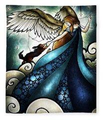 All Dogs Do Go To Heaven Fleece Blanket