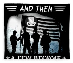 All Men Are Greated Equal And Then  A Few Become Brother Veteran Fleece Blanket
