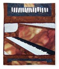 All That Jazz Piano Fleece Blanket