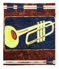 All That Jazz Trumpet Fleece Blanket
