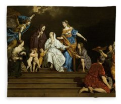 Allegory, Innocence Between Virtues And Vices Fleece Blanket