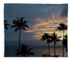 Aloha And Goodbye Fleece Blanket