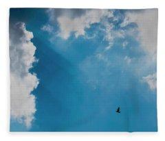 Colours. Blue. Alone. Fleece Blanket