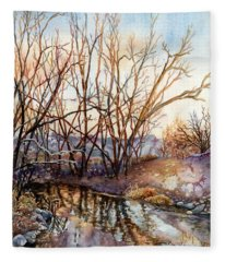Along Boulder Creek Fleece Blanket
