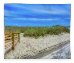 Along Surfside Beach Fleece Blanket