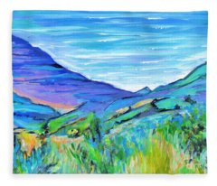 Along The Blue Basin Scenic Highway Fleece Blanket