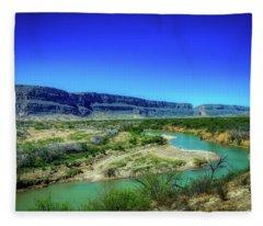 Along The Rio Grande Fleece Blanket