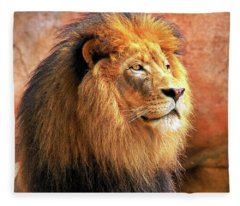 Alpha Male Lion Fleece Blanket